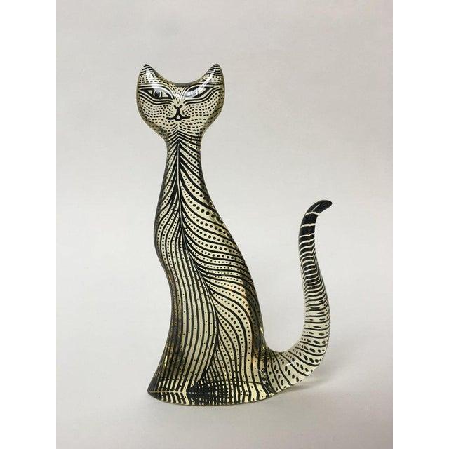 Abraham Palatnik 1970s Figurative Abraham Palatnik Op Art Lucite Cat Figure For Sale - Image 4 of 10