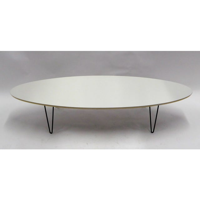 1950s Mid-Century Modern Long Surfboard Cocktail Coffee Table C. 1950s For Sale - Image 5 of 13