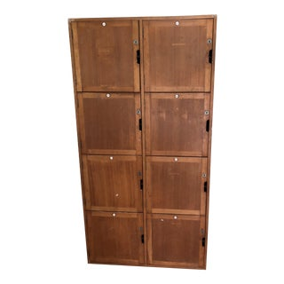 Vintage English Wooden Lockers
