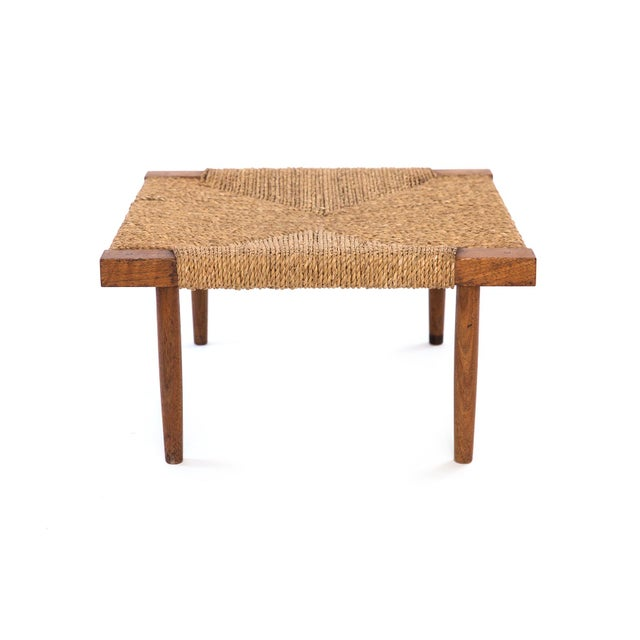 1960s George Nakashima Fitch Walnut Stool / Ottoman For Sale - Image 5 of 5