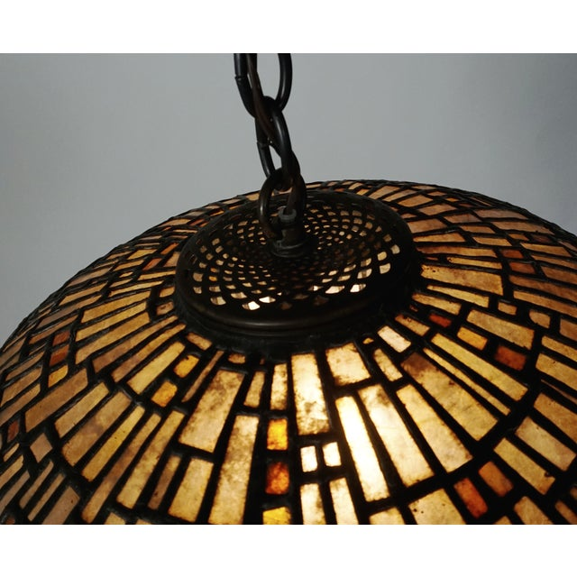 Leaded Mica Hanging Sculpture Light by Adam Kurtzman For Sale - Image 4 of 10