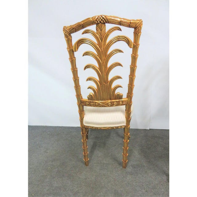 French Gold Gilt Leaf Carved Side Chairs- a Pair For Sale In Philadelphia - Image 6 of 7