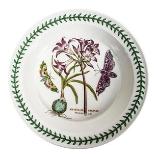 Vintage Portmierion Botanic Garden Pie Plate - Amaryllis Reginae Mexican Lily For Sale