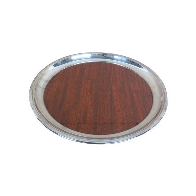 Retro Silver and Formica Platter - Image 2 of 4
