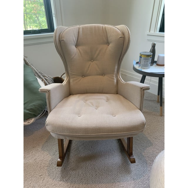 Leather Anthropologie Finn Rocking Chair For Sale - Image 7 of 7