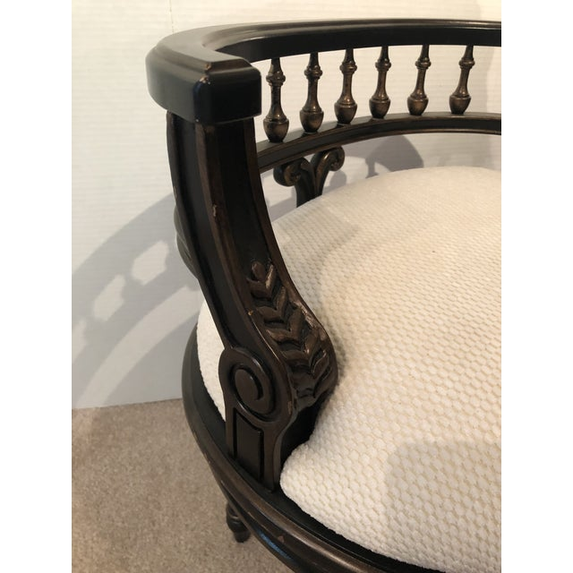 Shabby Chic Butler Specialty Company Artists Originals Café Noir Vanity Seat For Sale - Image 3 of 13