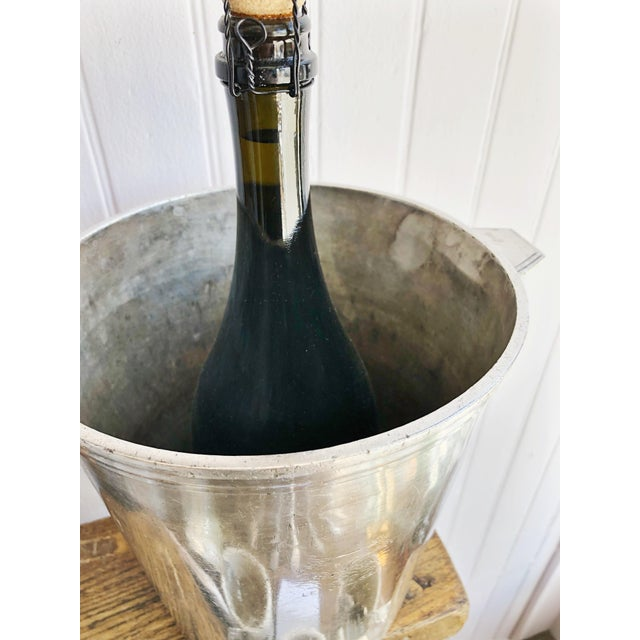 Metal Vintage Christofle Silver Champagne Bucket From Le Colisee Hotel Paris For Sale - Image 7 of 10