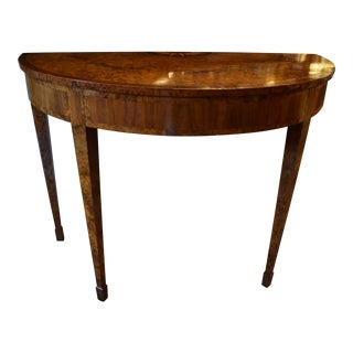 Half Moon Tulipwood and Amboyna Wood Table For Sale