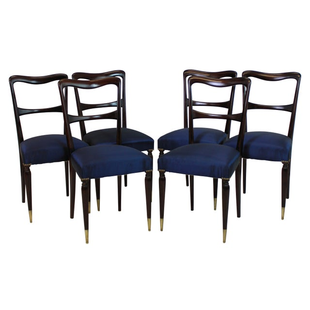 A Set of Six Fine Italian Dining Chairs For Sale - Image 4 of 4