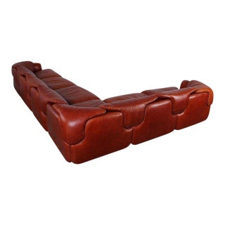 Leather Sectional Sofa by Alberto Rosselli for Saporiti For Sale