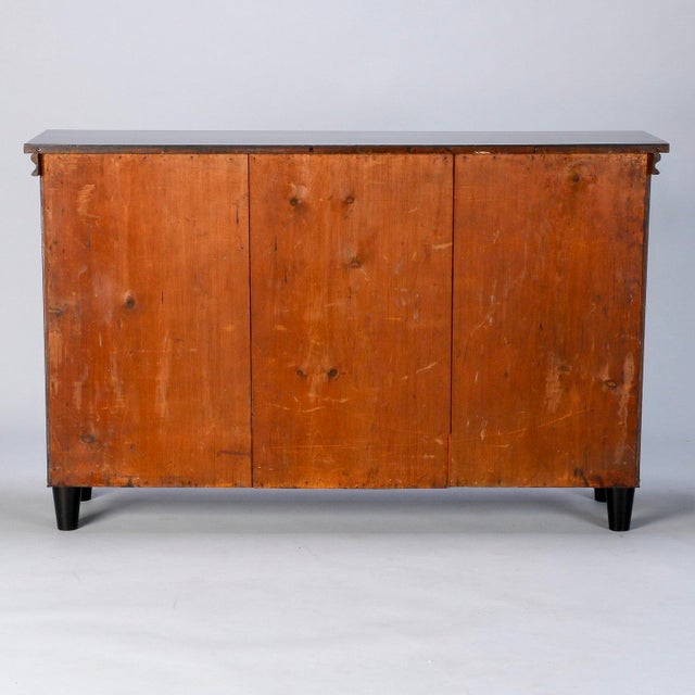 Ebonised English Sideboard With Brass Grills For Sale - Image 9 of 10