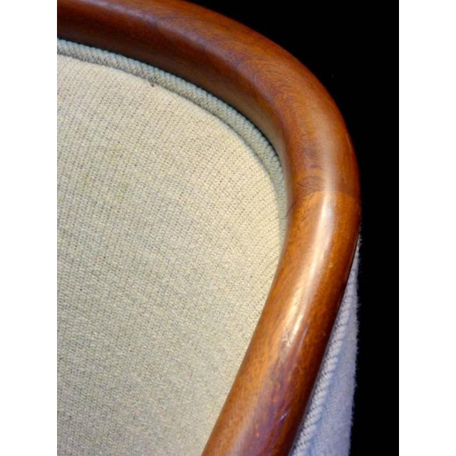 Brickel Associates Walnut Banker Chairs by Ward Bennett for Brickel For Sale - Image 4 of 10