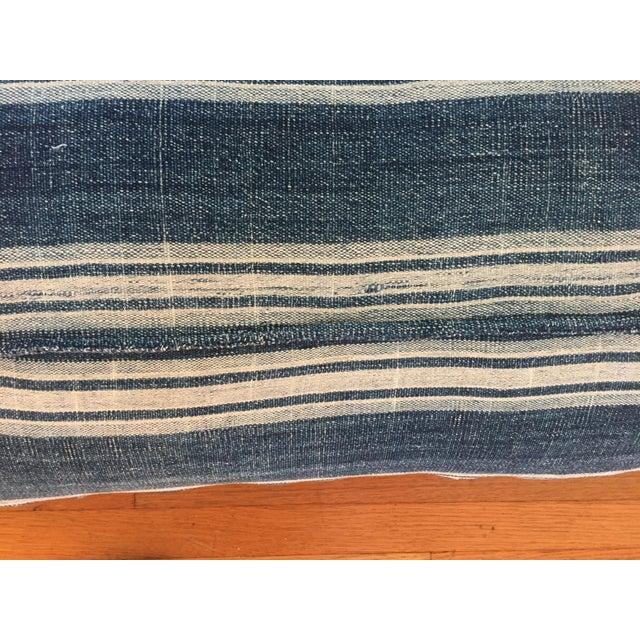 Vintage African Indigo Mud Cloth Pillows - A Pair - Image 8 of 8