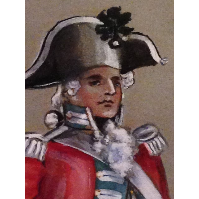 1890s Military Man Gouache Painting - Image 4 of 6