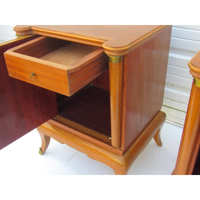 1950s French Maple Nightstands - A Pair - Image 4 of 10