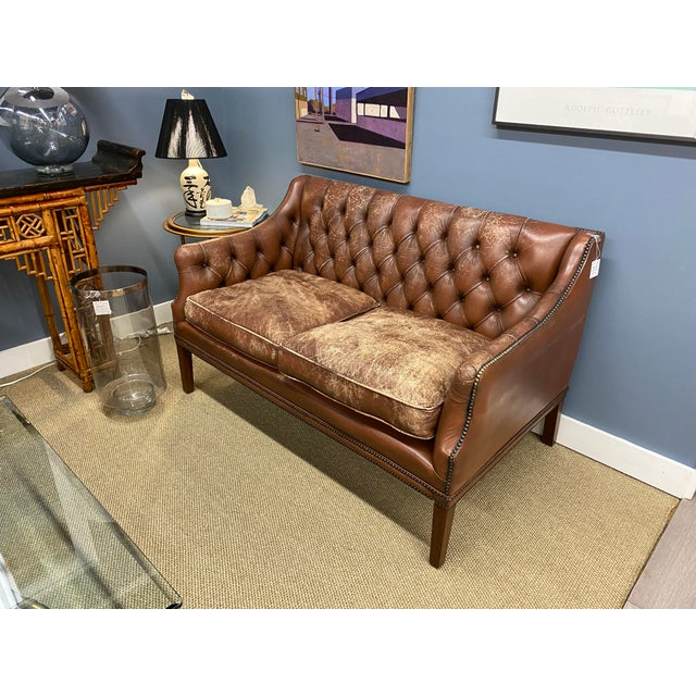 Fabulous midcentury leather sofa.