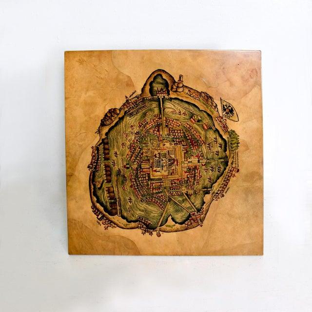 Maria Teresa Mendez Coffee Table, Goatskin Mahogany, Mid Century Mod For Sale - Image 9 of 10