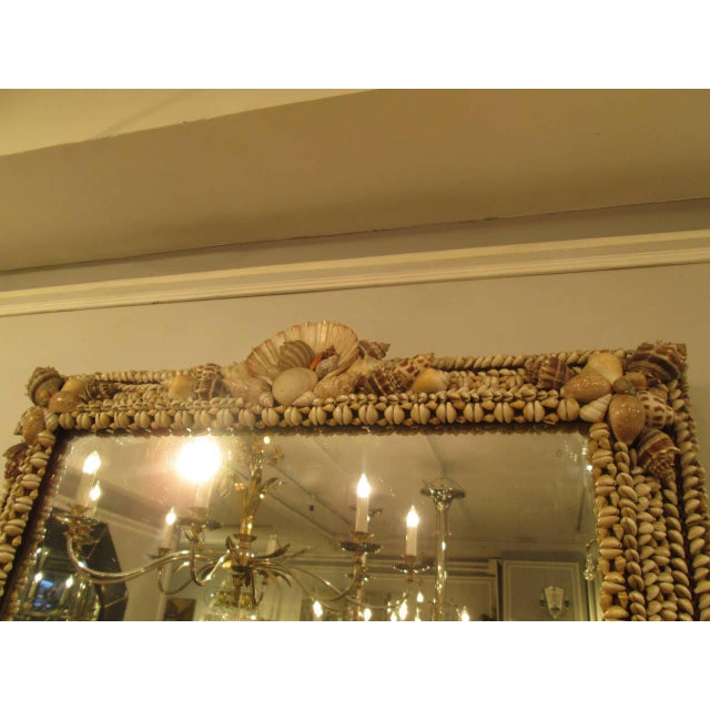 Modern Hand-Crafted Shell Mirror For Sale - Image 3 of 7