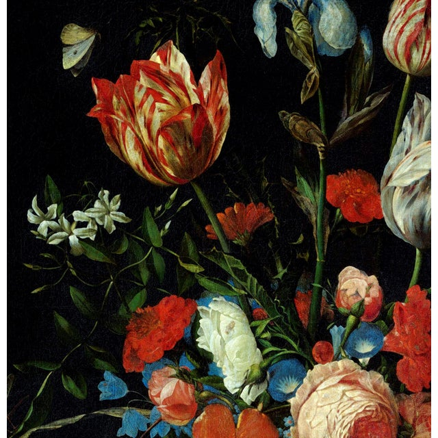 Paint Ottmar Elliger Dutch Still Life With Flowers From 1673 Unframed Giclée on Paper For Sale - Image 7 of 8