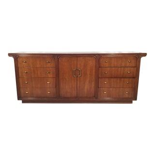 Vintage Art Deco 12-Drawer Dresser by Century For Sale
