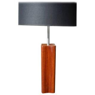 Danish Modern Large Teak Quatrefoil Shape Table Lamp by Nessen For Sale