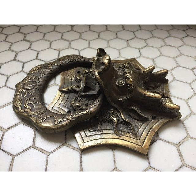 Asian Dragon Brass Door Knocker - Image 4 of 9