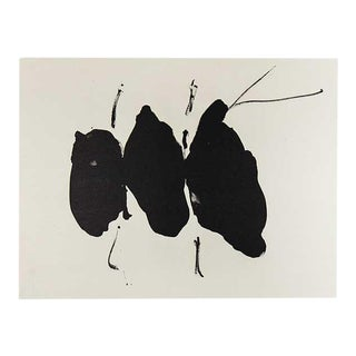 Robert Motherwell Lithograph Original Limited Edition Cat. Ref. B387.27 W/Frame For Sale