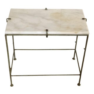 Giacometti Style Marble Top Iron Table