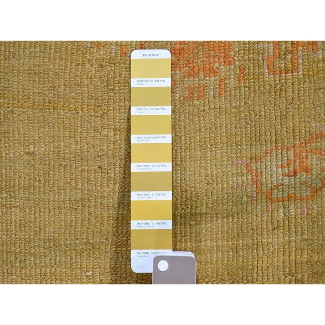"Orange Antique Turkish Oushak Oriental Rug - 10'2"" X 13'6"" For Sale - Image 8 of 13"
