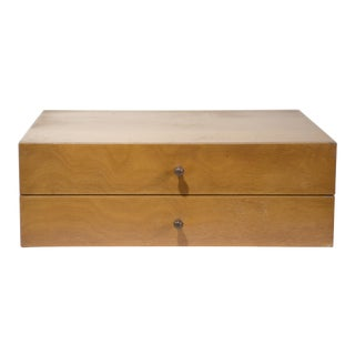 1950s Vintage Paul McCobb Two-Drawer Jewelry Box For Sale