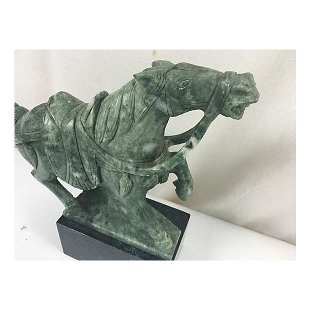 Mid-Century Modern Hand Carved Jade Horse Sculpture For Sale - Image 3 of 5