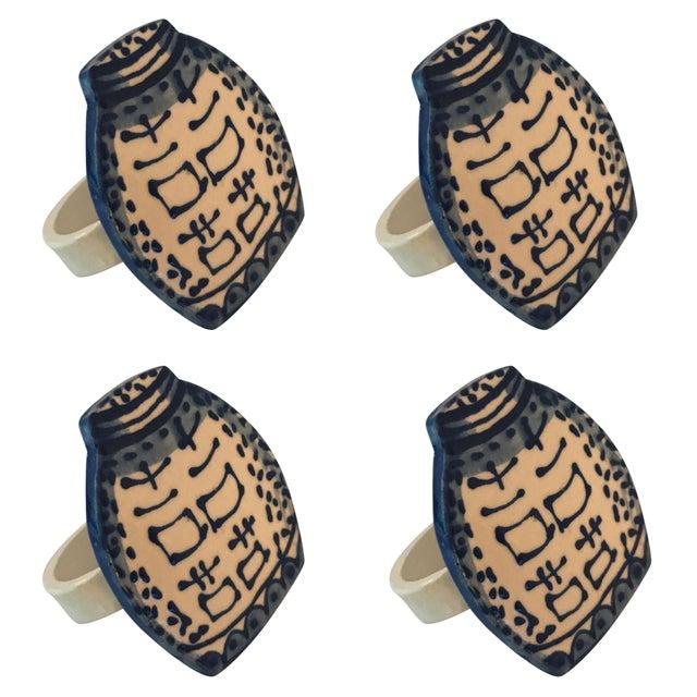 Ceramic Ginger Jar Napkin Rings - Set of 4 - Image 3 of 5