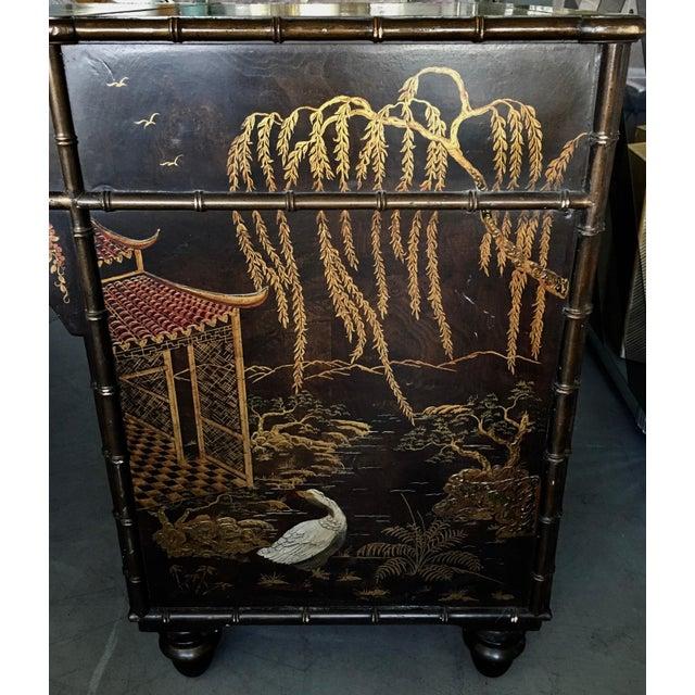 Gold Henredon Folio 10 Asian Style Desk For Sale - Image 8 of 10