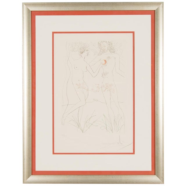 """Salvador Dali """"Adam & Eve"""" Signed Lithograph - Image 1 of 10"""