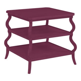 Abbott Tiered Side Table, Grape Juice For Sale