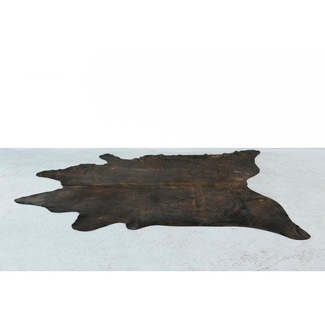 Genuine Brazilian Cowhide, Black + Gold Acid Wash - Image 2 of 4