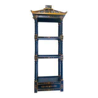 Chinoiserie Pagoda Shaped Wall Curio Shelf For Sale