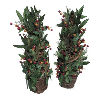 Holiday Topiary- 2 Pieces