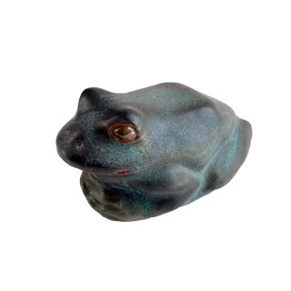 Andersen Design Frog in Verdigris Glaze For Sale