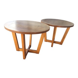 Mid Century Danish Lane Side Tables - a Pair For Sale