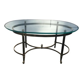 Brass & Glass Coffee Table