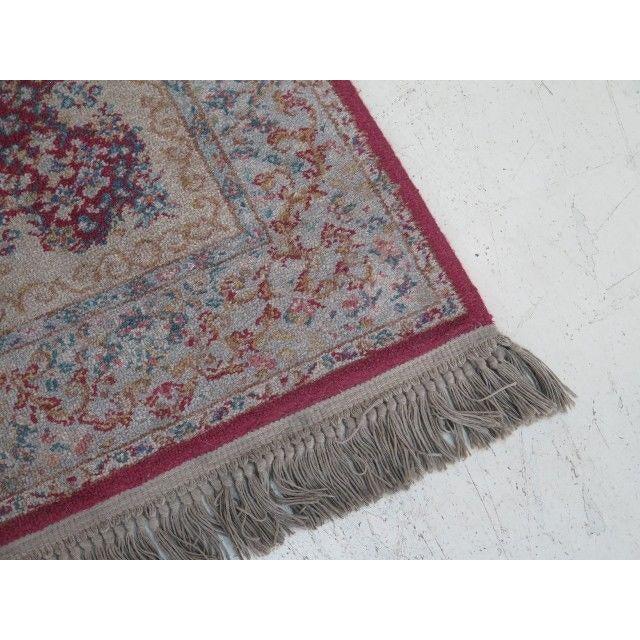 1980s Karastan Red Kirman Area Rug - 4′4″ × 6′9″ For Sale - Image 4 of 13