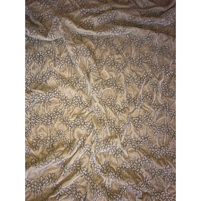 2000 - 2009 Hollywood Regency Style Dransfield & Ross Green Velvet Throw For Sale - Image 5 of 9
