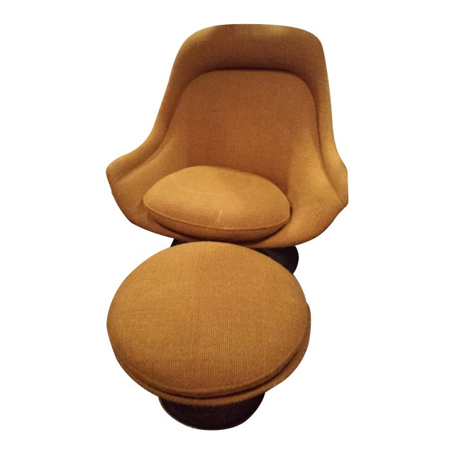 Knoll 1970's Platner Inspired Chair & Ottoman - Image 1 of 5