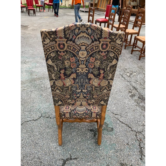 1900s Century French Country Louis XIII Style Os De Mouton Dining Chairs - Set of 6 For Sale - Image 10 of 13