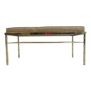 Vintage Brass Faux Bamboo Bench