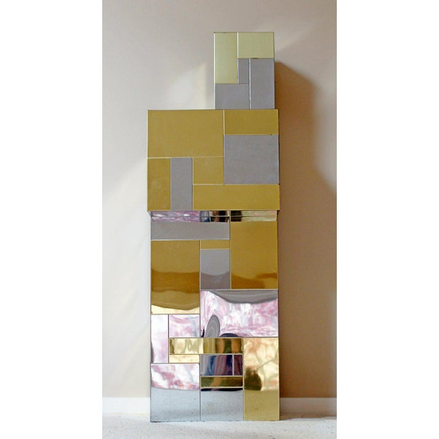 Brass Paul Evans Mid-Century Modern Cityscape Chrome Brass Pedestal, 1970 For Sale - Image 7 of 9