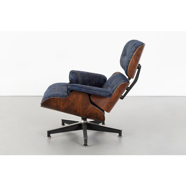 1950s Early Production Eames Rosewood Lounge Chair and Ottoman For Sale - Image 5 of 13