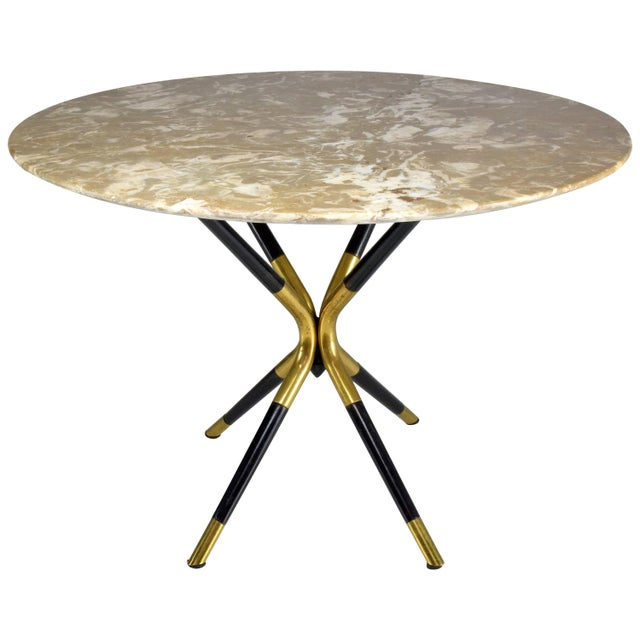 1950s Italian Vintage Round Marble Table by Cesare Lacca For Sale - Image 12 of 12