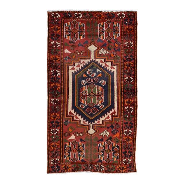 Vintage Persian Luri Rug- 4′1″ × 7′5″ For Sale
